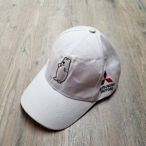 Mitsubishi White Bear Baseball Hat. Perfect Shape!